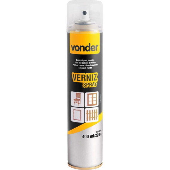 Verniz Em Spray, Natural, 400 Ml, Vonder