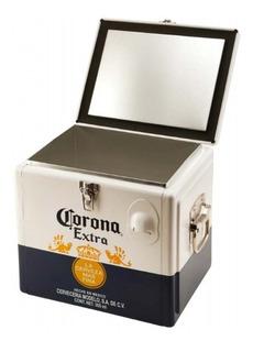 Conservadora Corona Cooler 15l. - Acero Y Aluminio