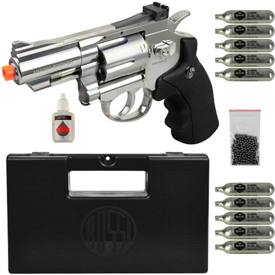 Revolver 708s 2.5 4.5mm+10co2+oleo+300 Esferas+case
