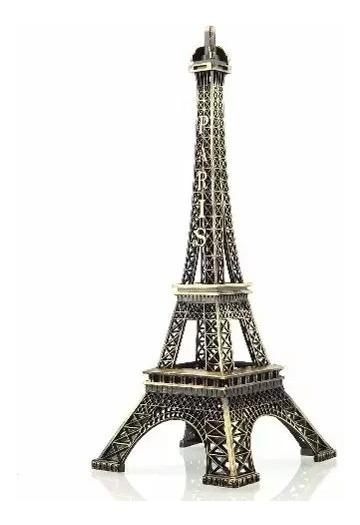Enfeites Miniatura Torre Eiffel Metal Paris Decoração 18cm