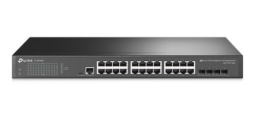 Imagem 1 de 3 de Switch Tp-link Tl-sg3428 - 24 Portas Gigabit - 4 Portas Sfp