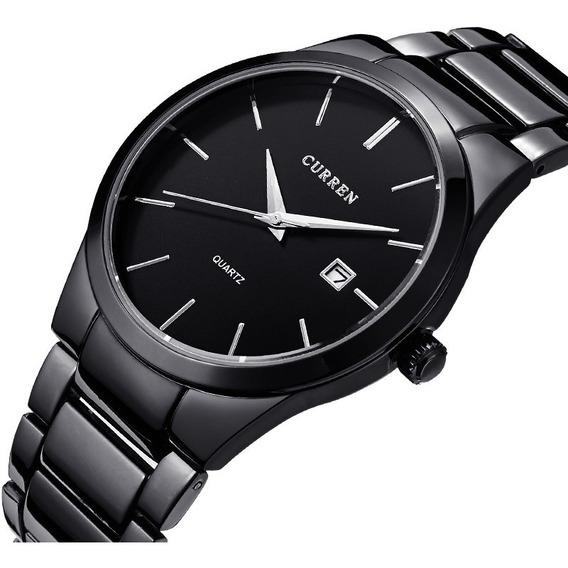 Reloj Acero Inoxidable Hombre Marca Original Fechador Cu
