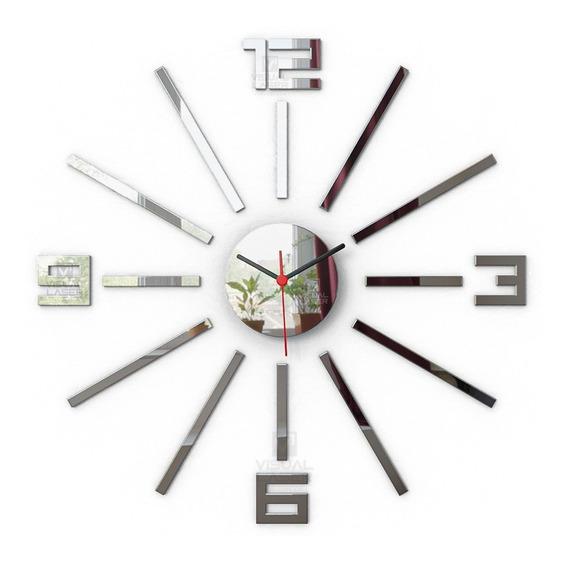 Relógio Parede Espelho Monte Você Mesmo Moderno