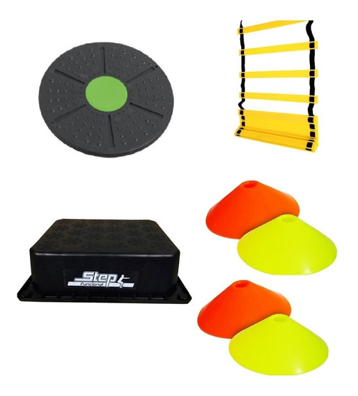 Kit De Entrenamiento 3 Step Cono Escalera Tabla Freeman