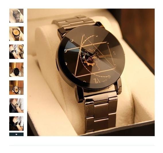 Relógio Analógico De Quartzo De Couro De Luxo, Moda Man