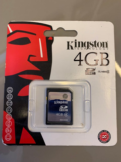 Cartão Câmera Fotográfica Kingston 4gb Classe 4