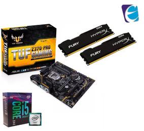 Kit 8ª Geração I5 8600k Mb Asus Tuf Z370 Pro Hyperx 16gb 2x8