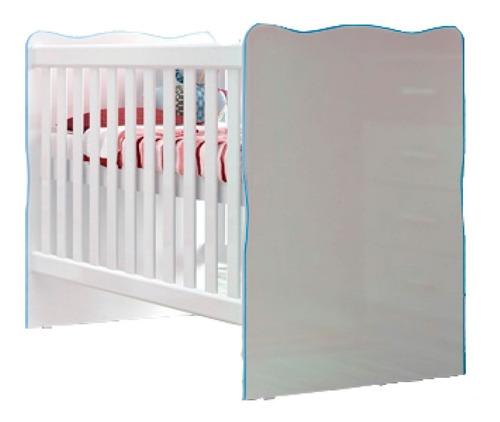Cuna Cama Infantil Niños Dormitorio Celeste Rosada If01