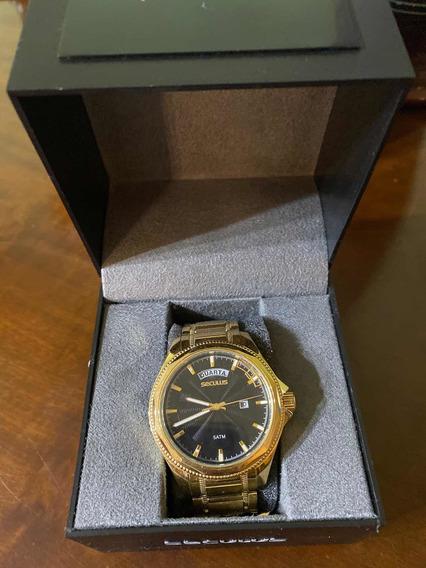 Relógio Dourado Seculus