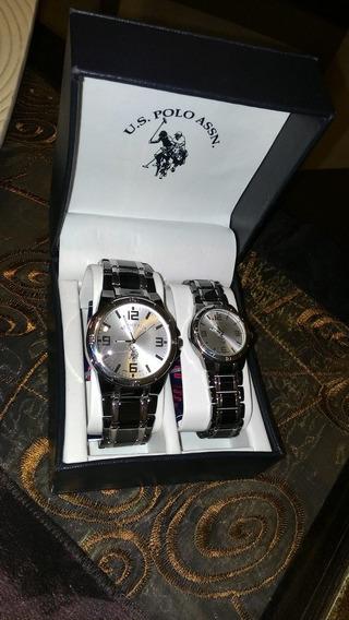 Relógio De Pulso Original U.s. Polo Assn Para Casal (par)