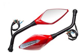 Retrovisor Esportivo Bara Vermelho Honda Bros 150 Esd 2014