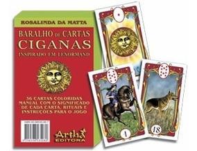 Baralho Cigano Com 36 Cartas - Ed.artha- Gratis Um Mini Bar