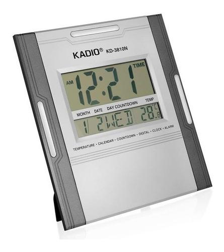 Reloj Pared Mesa Digital Fecha Alarma Calendario Termometro