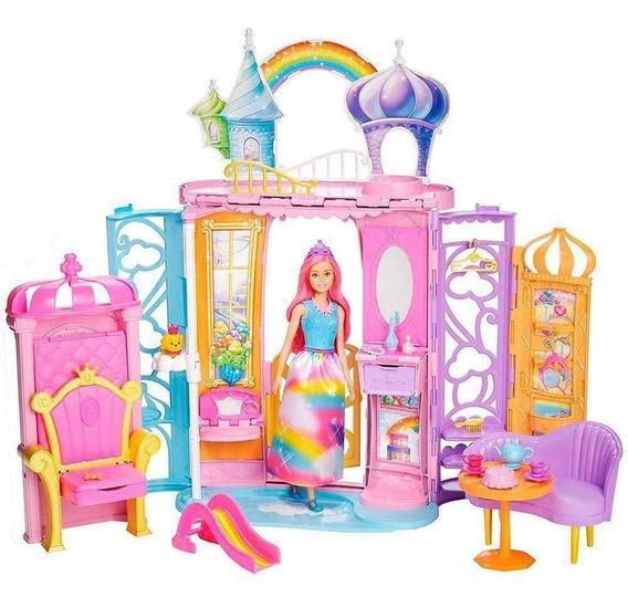 Castelo De Arco Íris Barbie Irisfrb15 Casa Barbie Dreamtopia