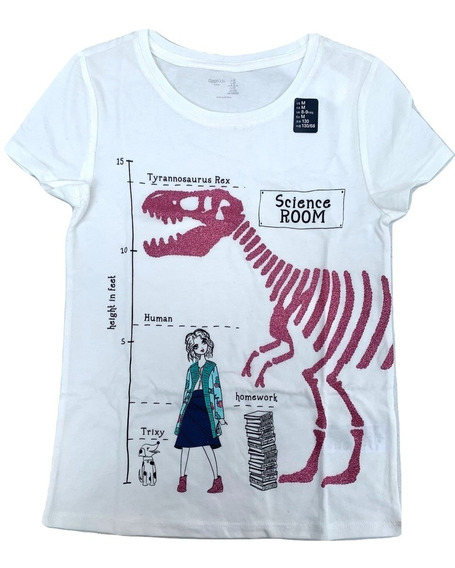 Gap Camiseta Playera Niña Estampado 100% Original