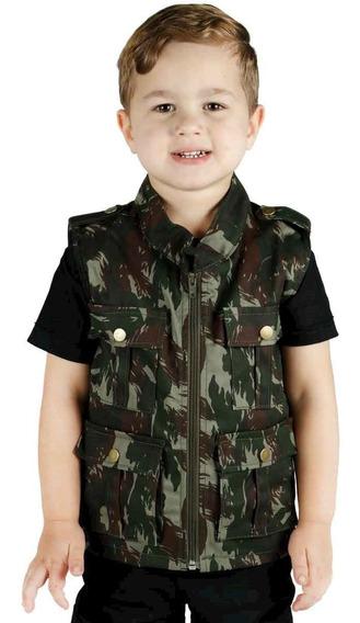 Colete Infantil Army Camuflado Exército Brasileiro ( Eb )