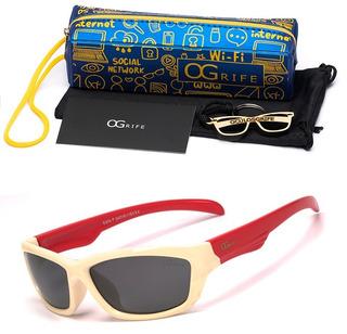 Oculos Ogrife Solar Infantil Og 976-i Flexível Polarizado