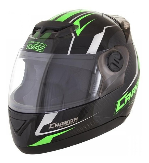 Capacete Evolution 788 G5 Carbon Evo Preto/verde
