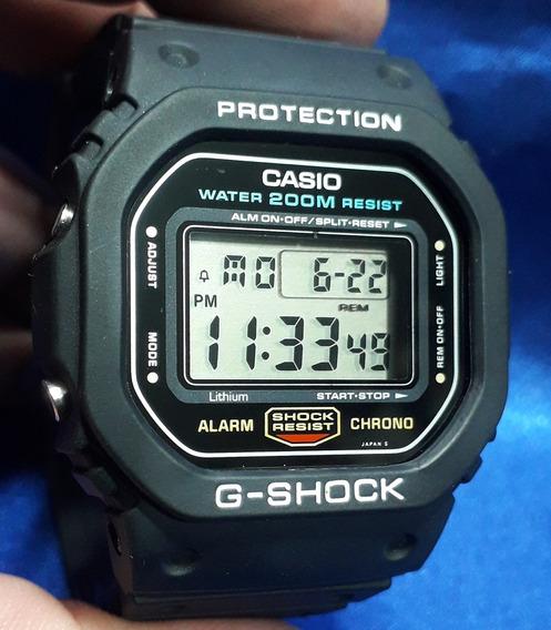 Relógio Casio G-shock Dw 5600 Fundo Rosca Japan Série Prata