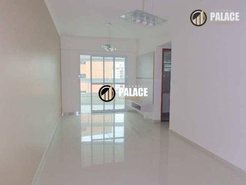 Apartamento Com 2 Dormitórios À Venda, 93 M² Por R$ 420.000,00 - Vila Guilhermina - Praia Grande/sp - Ap1565