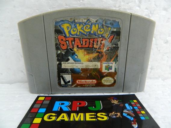 Pokemon Stadium Original Salvando P/ Nintendo 64 N64 Loja Rj
