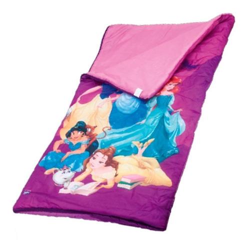 Saco D Dormir Infantil Rosa Princesas Disney Com Bolsa Zippy