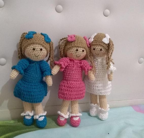 Trio Amigurumi Bonecas Crochê