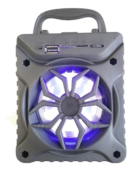 Kit 5 Caixas De Som Luminosa Com Bluetooth Usb Sd Fm Atacado