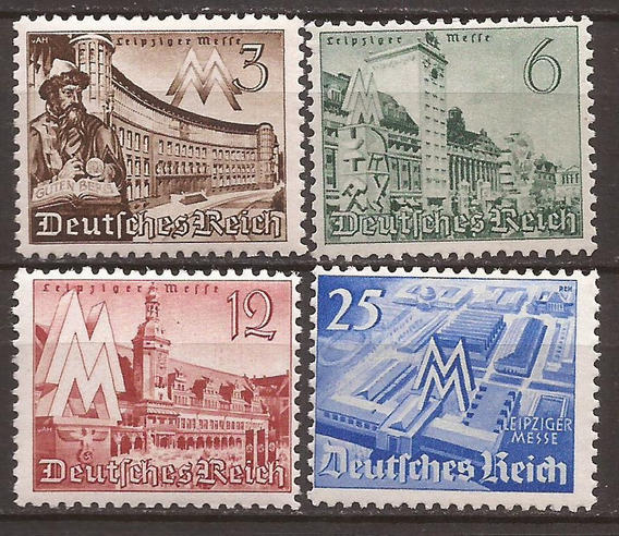 2° Guerra Alemania 1940 Serie Edificios De Leipzig Mint 9 U$