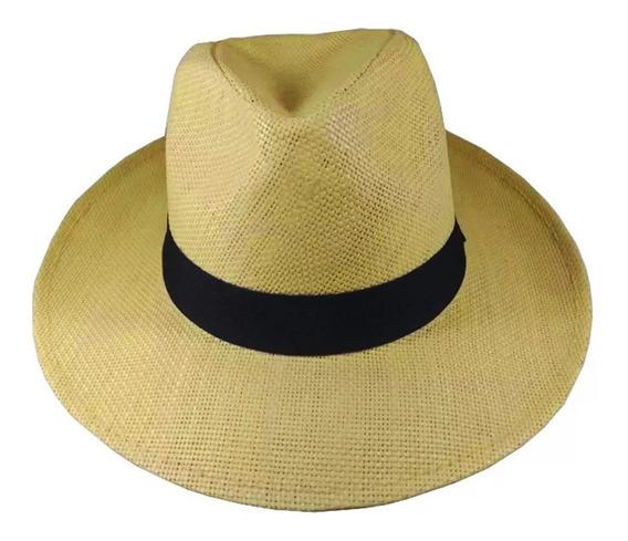 Chapé Panamá Aba Larga Casual Praia Masculino Feminino