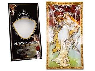 Plato Cristal Rectangular 16x30cm Primavera Alphonse Mucha