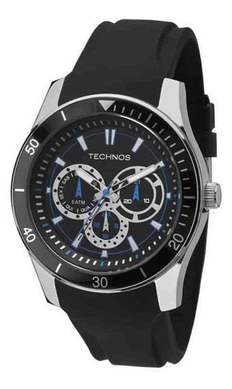 Relógio Technos Racer Masculino Prateado Silicone 6p29aiq/8p