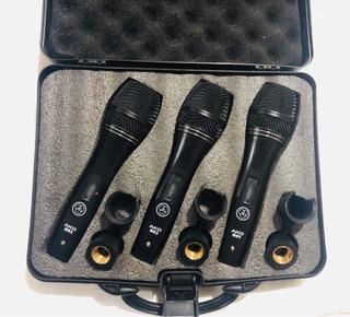 Kit 3 Micrófonos Profesionales Akg M83 Seminuevos
