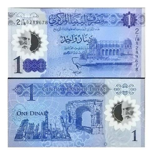 Billete Libia 1 Dinar 2019, Polimero Unc