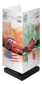 Abajur Mesa Criado Mudo Estante Infantil Carros 2 3d Disney