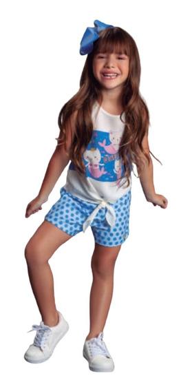 Conjunto Infantil Feminino Roupa De Menina Luxo Festa Sereia