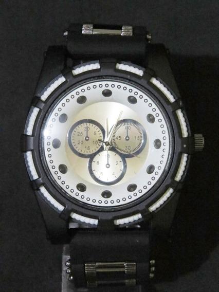 Relógio Bolt Zeus Venon Top Preto Prata Grande Barato C317