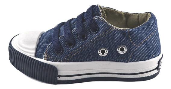 Zapatilla Jean Azul Cordon Small Shoes