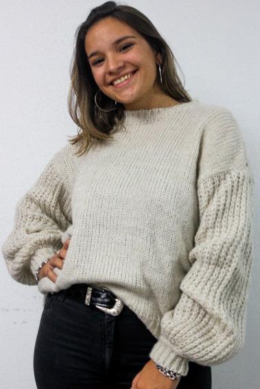 Sweater Mujer Lana Abrigo Clasico Invierno Cuello Redondo