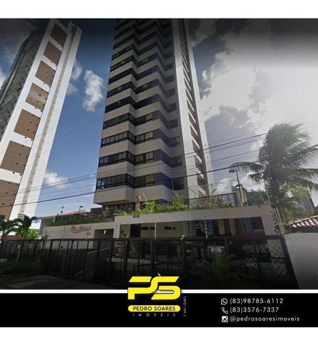 Apartamento Com 4 Dormitórios À Venda, 218 M² Por R$ 1.400.000 - Cabo Branco - João Pessoa/pb - Ap4265