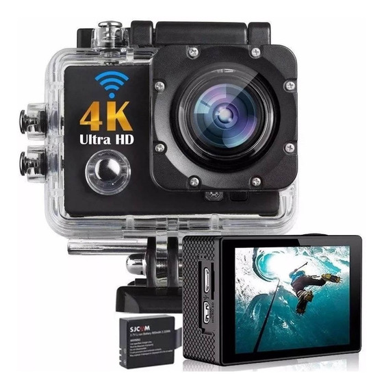 Kit Filmadora Action Cam Go Sports Câmera 4k + Bateria Extra