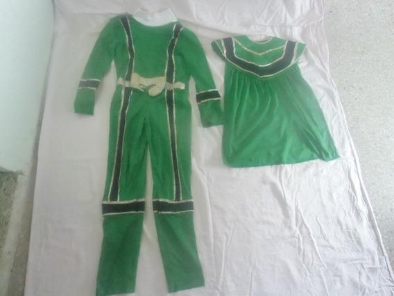 Disfraz Power Ranger Mistico Color Verde