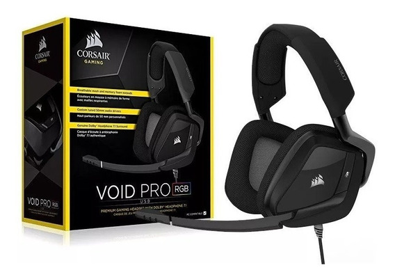 Headset Corsair Void Pro Rgb Usb 7.1 Usb Ca-9011154-na