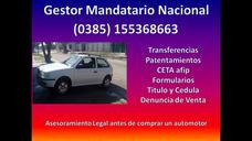Gestor Del Automotor - Transferencias Cedulas Y Titulo