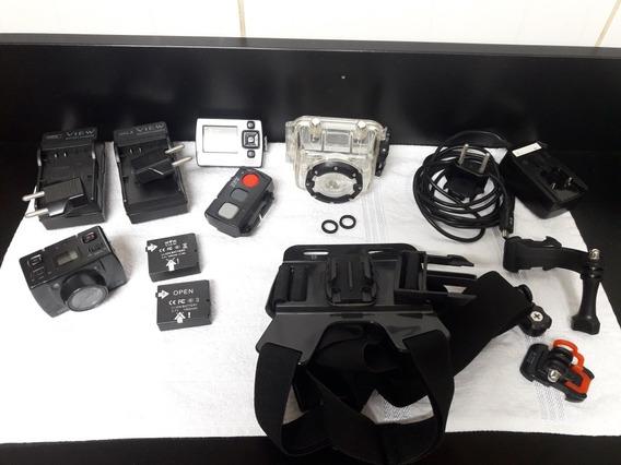 Camera De Açao Xtrax Sd20 + Acessorios + Pau De Selfie