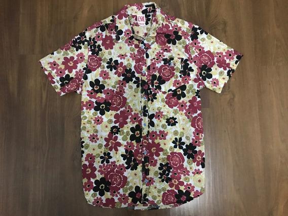 Camisao Botão Camuflado/floral Lançamento Vlcs Gangster Etc