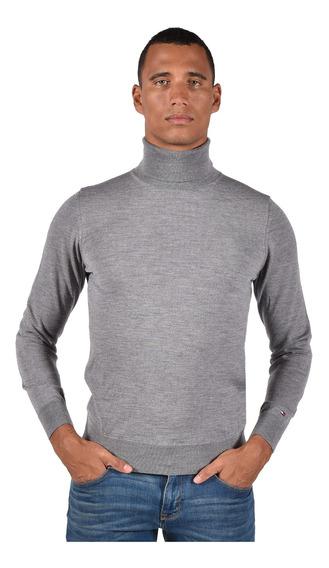 Suéter Luxury Wool Tommy Hilfiger Gris Mw0mw03192-043 Hombre
