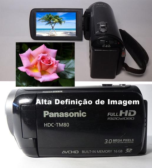 Filmadora Panasonic Hdc Tm80 Full Hd Com Garantia