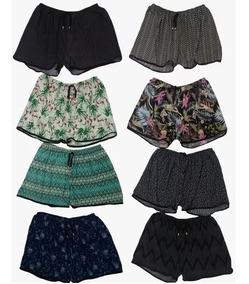 Kit 5 Shorts Feminino Plus Size Estampado Tamanho Especial