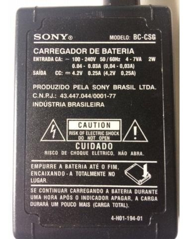 Carregador Sony Bc-csg